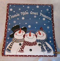 Snowman Friends Magnetic Dishwasher Cover  Large