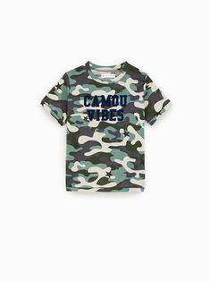 8a4d233f Camouflage and text print shirt. Zara United KingdomZara United StatesBoys T  ...