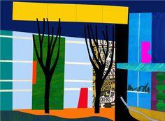 Designer Trees Silkscreen Print by Bruce McLean
