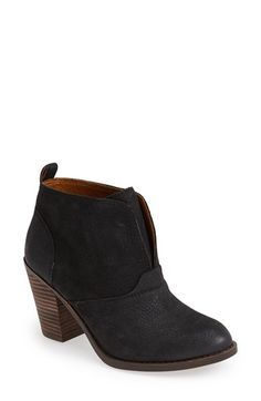 Lucky Brand 'Ehllen' Textured Leather Bootie (Women) available at #Nordstrom
