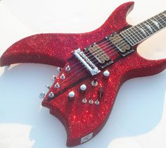 Custom Blinged BC Rich Bich 10 String Guitar by BlingIsTheNewBlack, $9000.00