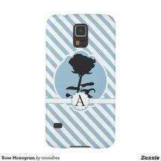 Rose Monogram Galaxy S5 Cases