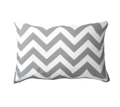 Grey Pillow Cover.Gray Pillow. Gray Zigzag Pillow-Gray Lumbar Chevron Covers-Gray and White Chevron Pillow-12 x 16 0r 12 x 17 or 12x18 on Etsy, $16.00