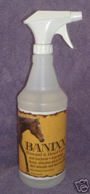 """Banixx Wound & Hoof Care - - Bci by SHERBORNE, INC. $25.30. No offensive odor and therefore does not create fear in the horse.. Environmentally friendly.. """"No stinging, caustic sensation when applied to horses wound."""". No steroids.. """"The fast-acting, affordable answer for:Wounds, fungus& rain-rot, scratchs, thrush and white-line diseaseZero color, odor, or sting2010 horse journal product of the yearEarth-friendly, safe for all pets!Size32 OUNCEColor """"BCI - 075004"""