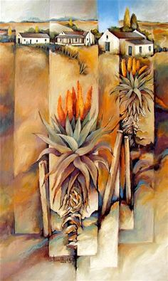 Image result for Aloes in art Baobab Tree, Tree Artwork, South African Artists, Landscape Artwork, Old Farm Houses, Farm Yard, Flower Art, Original Art, Art Gallery