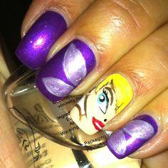 Tinkerbell nail art
