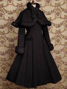 fashion elegant clothes clothing pretty beautiful goth gothic lolita dress coat outerwear jacket cute