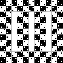 Optical illusion made of all straight lines.