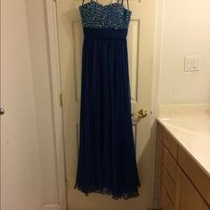 I just discovered this while shopping on Poshmark: Blue Prom Dress. Check it out!  Size: 2
