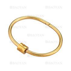 pulsera moda simple dorado acero inoxidable -SSBTG924359