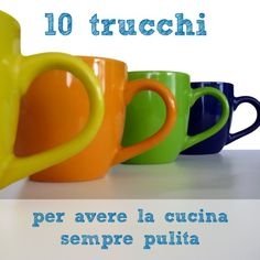 10 trucchi per avere la cucina sempre pulita Diy Cleaning Products, Cleaning Solutions, Cleaning Hacks, Sr1, Ideas Para Organizar, Flylady, Desperate Housewives, Fresh And Clean, Tidy Up
