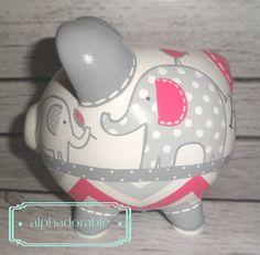 SMALL artisan hand painted ceramic personalized por Alphadorable
