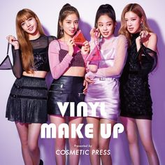 """181113 — Blackpink is the new model of Cosmetic Press Japan for their latest cosmetics line """"Vinyl Make Up"""". Buy Blackpink X Cosmetic Press """"Vinyl Make Up"""" here. Kim Jennie, Kpop Outfits, Korean Outfits, Yg Entertainment, Square Two, Divas, Black Pink Kpop, Blackpink Photos, Blackpink Fashion"""