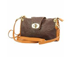 Leather clutch bag in brown is made by soft genuine calfskin leather with pattern. Gold turn lock and two tone color makes it outstanding from the crowd! Chic and elegance.Please check on necessities. Leather Clutch Bags, Saddle Bags, Brown, Party Time, Pattern, Molle Pouches, Model, Patterns, Browning