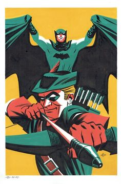 Batman & Green Arrow by Michael Cho