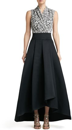St. John Collection Duchesse Origami Ruffle Gown Skirt on shopstyle.com