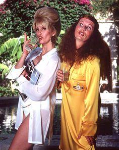 Joanna Lumley as Patsy Stone and Jennifer Saunders as Edina Monsoon in Absolutely Fabulous, 1992 - 1996 Jennifer Saunders, Patsy And Eddie, Edina Monsoon, Patsy Stone, Joanna Lumley, British Comedy, British Sitcoms, Bbc Tv, Absolutely Fabulous