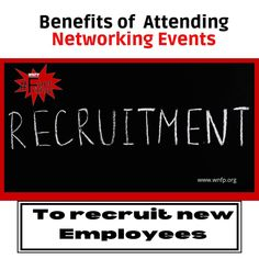 What are the benefits of attending networking events? To recruit new employees. #networkingevents #businessevents #business Networking Events, Business Networking, New Employee, Business Events