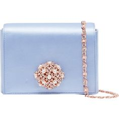 Ted Baker Selinaa Clutch Bag (1.912.785 IDR) ❤ liked on Polyvore featuring bags, handbags, clutches, pale blue, man bag, blue clutches, evening purses clutches, blue handbags and party clutches