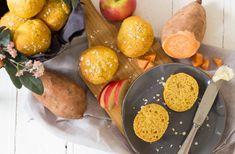 Süßkartoffelbrötchen mit Apfel & Haferflocken ⋆ Lieblingszwei * Mama- & Foodblog Bento Box, Pretzel Bites, Baby Food Recipes, Bread, Cheese, Maximilian, 4 Kids, Babys, Breakfast Healthy