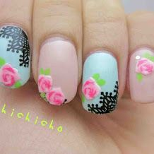 Roses and Lace Nail Art Stickers