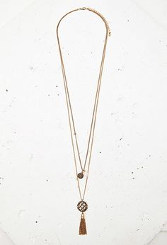 Layered Tassel Necklace | Forever 21 - 1000163569