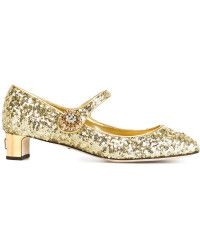 Dolce & Gabbana | Sequinned Leather Mary-Jane Pumps |  Lyst