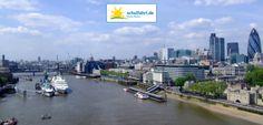 Panorama von der Tower Bridge aus. www.schulfahrt.de #Panorama #London #England