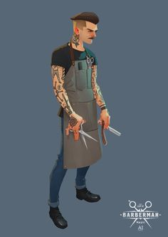Barberman, Andrey Ivanov on ArtStation at https://www.artstation.com/artwork/LOnm0