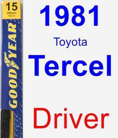 Driver Wiper Blade for 1981 Toyota Tercel - Premium
