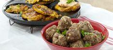 Peruna-porkkanaröstit ja lihapullat Beef, Ethnic Recipes, Food, Meat, Essen, Ox, Ground Beef, Yemek, Steak