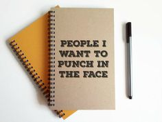 People I want to punch in the face 5x8 by JournalandCompany