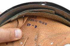 WW2 german M31 HELMET LINER. (Futterrohr M31 für Stahlhelm) Litzmannstad 1943 | eBay Ww2 German, German Helmet, Helmet Liner, Over Ear Headphones, Ebay, Pipes, Steel