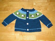 Ravelry: Sheep Yoke Baby Cardigan pattern by Jennifer Little