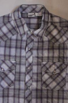 Alion Mens Casual Regular Short Sleeve Button Down Plaid Checked Shirts