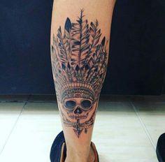 My Tattoo #skull #cocar