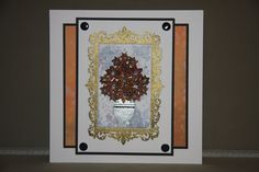 Card created using Masterpiece Duo Stamp Set - Ornate Frame & Landscape Artist, with Painted Floral Stamp set, made by Debbie Moran www.craftworkcards.com