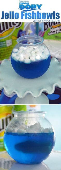 Have a Finding Dory Party With This Fun Jello Fishbowl Treat