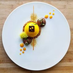 """Look at this stunning dessert! The """"After was part of the first menus created when the Executive Chef Grégoire Berger started at four years ago. Gourmet Food Plating, Gourmet Desserts, Fancy Desserts, Plated Desserts, Gourmet Recipes, Sushi Recipes, Gourmet Foods, Dessert Recipes, Food Plating Techniques"""