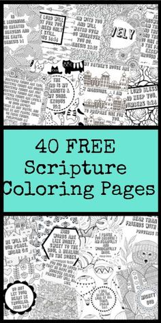 40 FREE scripture coloring pages! These scripture filled coloring pages are perfect for the person in your life that loves to color. They come in a PDF so that you can print them as many times as you want. Bible Coloring Pages, Free Printable Coloring Pages, Free Printables, Coloring Sheets, Colouring, Sermon Notes, Christian Parenting, Christian Homemaking, Bible Verses