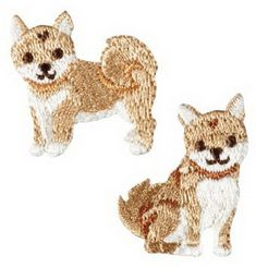 timeless design e2a1f da768 Iron on Embroidery Patch Applique Shiba inu from Japan H457-944