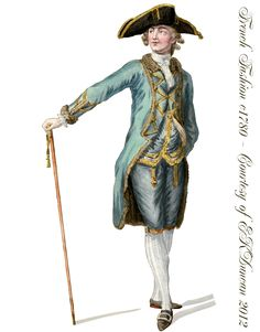 Late 18th Century French Fashions for Men - PNGs in various color combinations by EKDuncan - http://www.ekduncan.com/2012/04/late-18th-century-french-fashions-for.html#