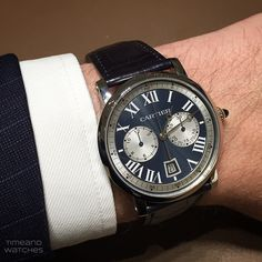 Rotonde de Cartier Chronograph. Limited Edition in white gold and blue dial presented at SIHH 2015   Time and Watches