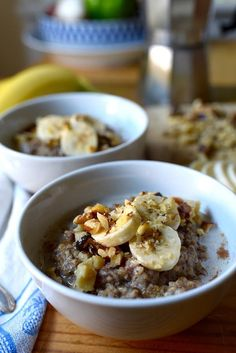 Slow Cooker Banana Bread Oatmeal Recipe Healthy Breakfast Recipes, Healthy Snacks, Healthy Recipes, Fall Recipes, Healthy Life, Slow Cooker Recipes, Crockpot Recipes, Cooking Recipes, Bread Recipes