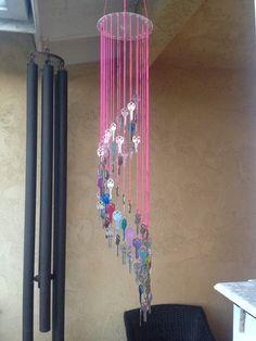 DIY Old key wind chime.
