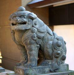 小野照先神社の狛犬