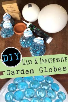 Dress up your garden with homemade garden globes. They are an easy and inexpensive craft project! They add little style and can be customized to fit any color scheme or garden decor! It's a little garden art. Upcycled Home Decor, Upcycled Crafts, Handmade Home Decor, Mosaic Crafts, Mosaic Projects, Easy Garden, Garden Art, Garden Ideas, Concrete Bird Bath