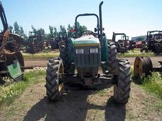 John Deere 5300 tractor salvaged for used parts. Call 877-530-4430. We buy salvage farm equipment. 7 salvage yards in the Midwest. http://www.TractorPartsASAP.com