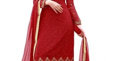 INQUIRY WHATSAPP /  Call- 91 9624913609 Women's Semi-Stitched Red Colour Georgette Salwar Kameez For Party Wear / Festival Wear / Office And Casual Wear / Latest Salwar Kameez Collection http://www.justkartit.com/index.php?route=product%2Fproduct&product_id=5053&utm_source=dlvr.it&utm_medium=facebook&utm_campaign=justkartit #Diwali