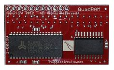 The QuadRAM Shield for the Arduino Mega/Mega2560 and now the New Rugged  MEGA adds 512 kilobytes of external fast-access RAM directly mapped to the  address space of the microcontroller. Use it for processing large, fast  incoming data streams like images or audio, or for buffering data prior to